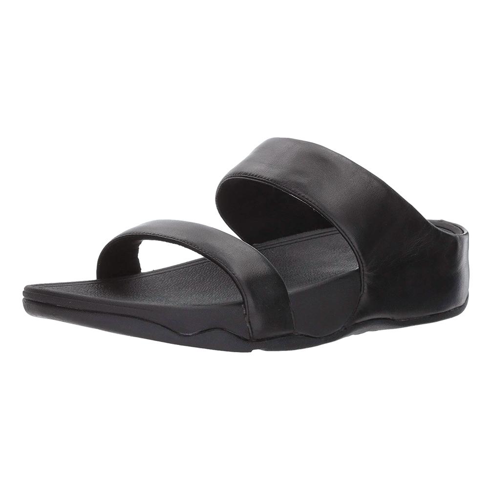 806098b5a Fitflop Women's Lulu Leather Slide Sandal - Black | Discount Fitflop ...