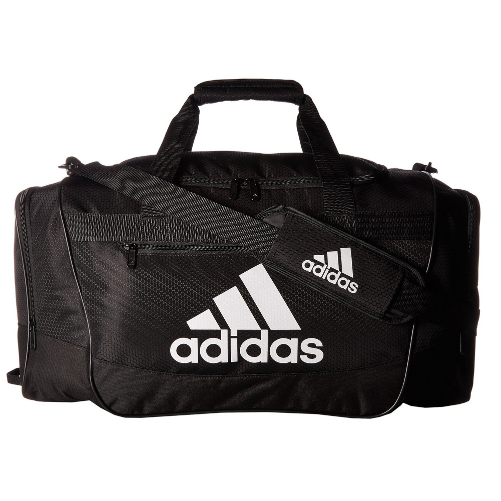 01ed5165cc Adidas Defender II Medium Duffel Bag Black White - Shop now   Shoolu.com