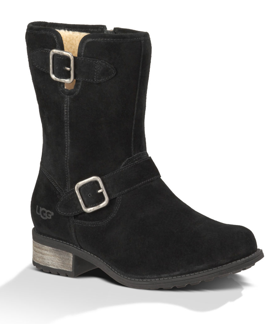 e29762b4e62 UGG Women's Chaney Water-Resistant Mid Boots Black Suede