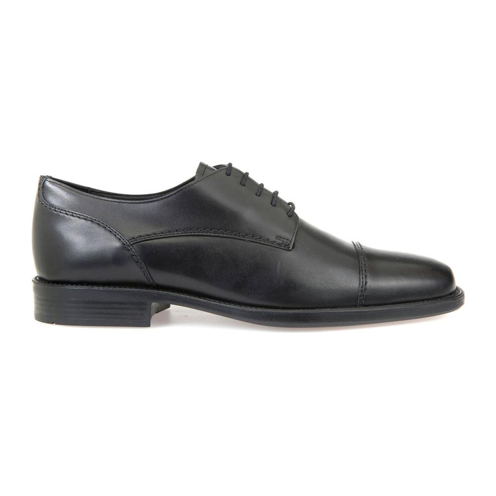 ebae20e322 Geox Men's Federico Cap Toe Dress Oxford Black Leather - Shop now @  Shoolu.com