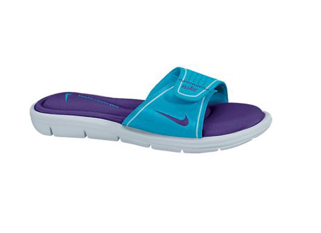 48949ae70aa4 Nike Women s Comfort Thong Sandals - Vivid Blue Glacier Ice Platinum ...