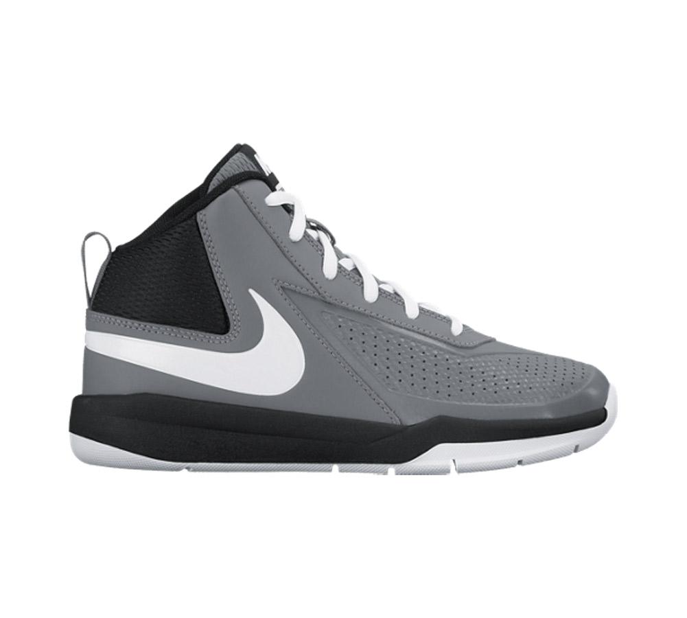 30b13facd8 Nike Boy's Team Hustle D 7 Basketball Shoe Grey/White/Black - Shop now