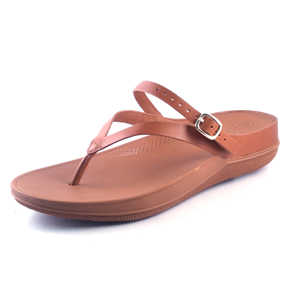 a3a3ea210 Fitflop Women s Flip Leather Back-Strap Sandals Caramel - Shop now    Shoolu.com