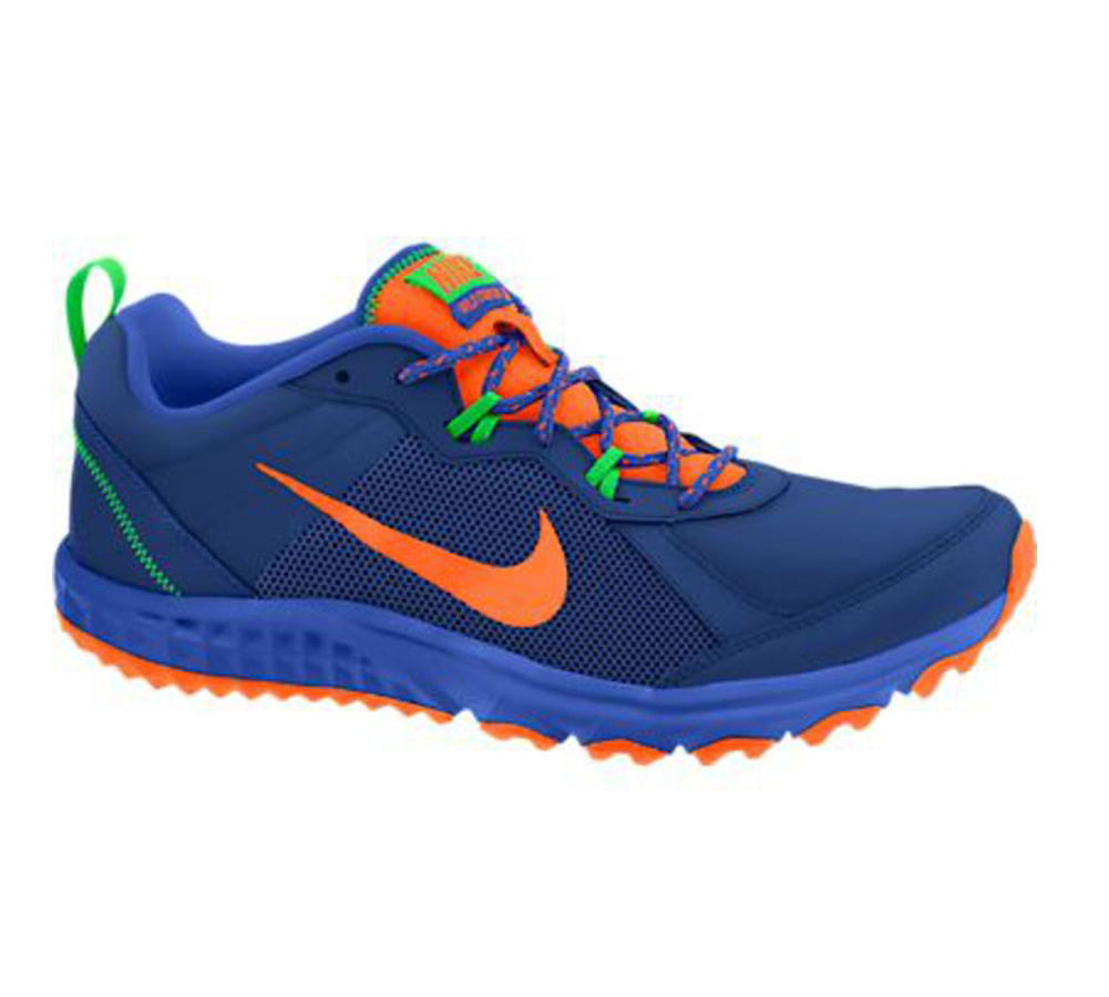 66dc29da458f2 Nike Men s Wild Trail Running Shoe Blue Poison Green - Shop now   Shoolu.