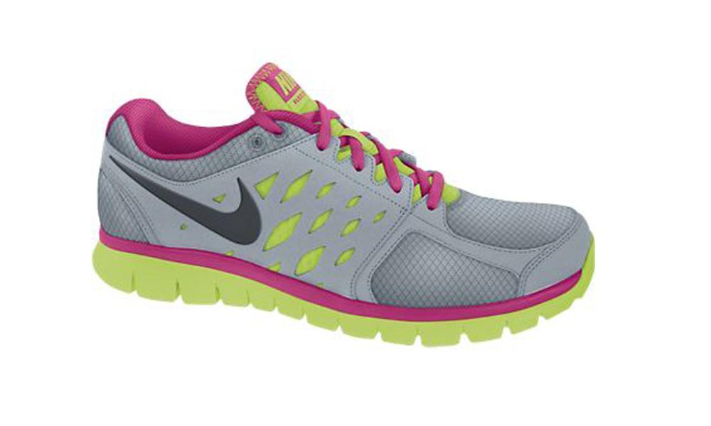 1648860370f9 Nike Flex 2013 Run Grey Volt Pink Ladies Running Shoes - Wolf Grey ...