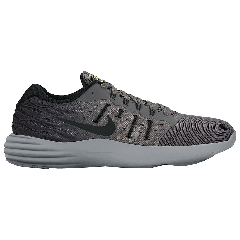 online store 352cc 6f599 Nike Men s Lunarstelos Shield Running Shoe Black Dark Grey - Shop now    Shoolu.