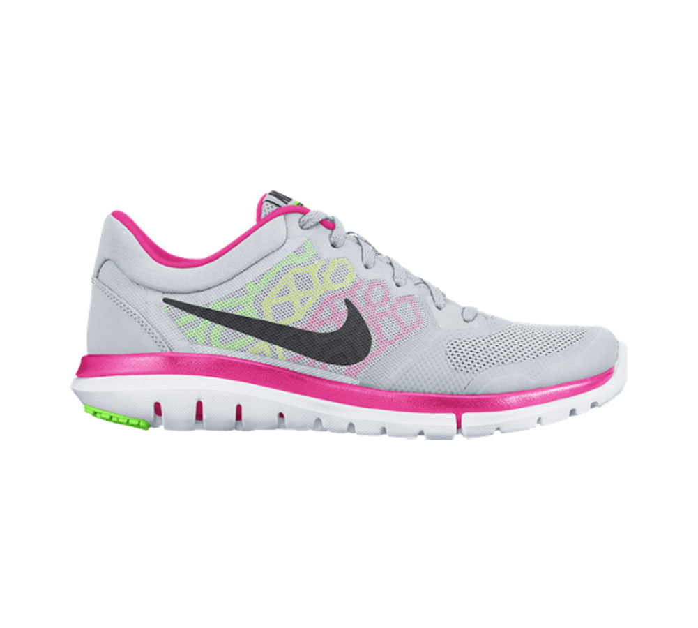 2b6ce06df0ca2d Nike Women s Flex Run 2015 Running Shoe Platinum Pink - Shop now   Shoolu.