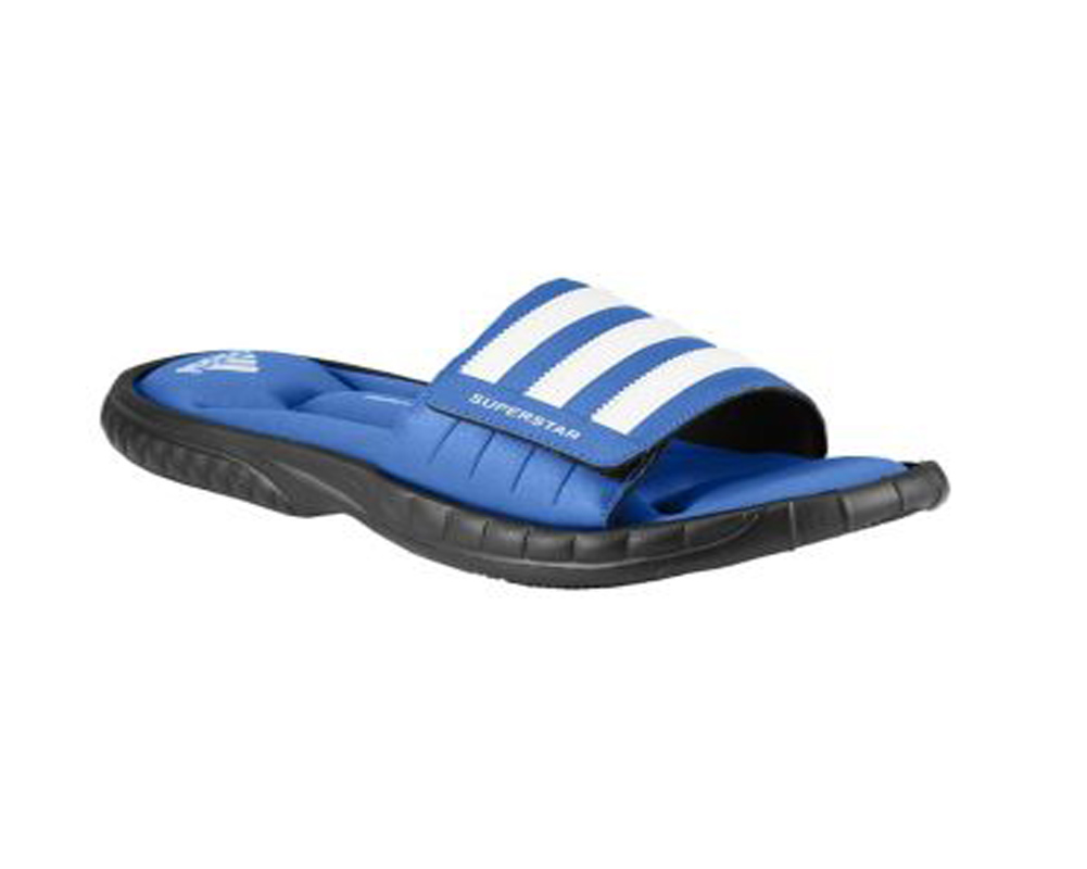 32b46b3643bf4 Adidas Men s Superstar 3G Slide Sandal Blue Beauty Black - Shop now    Shoolu.