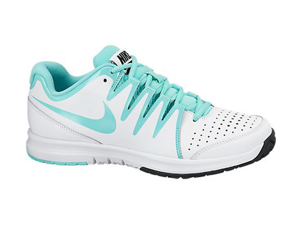 b5c3f65e59 Nike Women's Vapor Court Tennis Shoes White/Turquoise - Shop now @  Shoolu.com