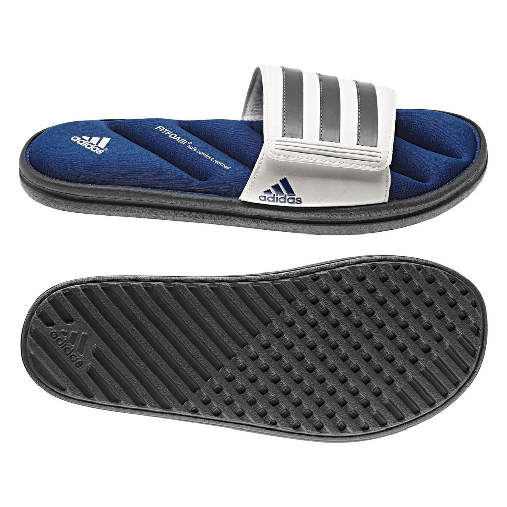 e41ac2b5ad89 Adidas Men s Zeitfrei Slide FF Sandals White Blue - Shop now   Shoolu.com