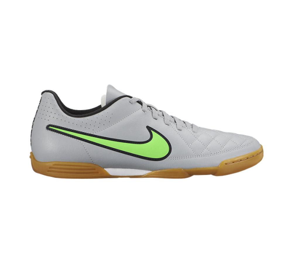 cfc30758194 New Nike Men s Tiempo Rio II IC Soccer Shoe Grey Green Strike - Shop now