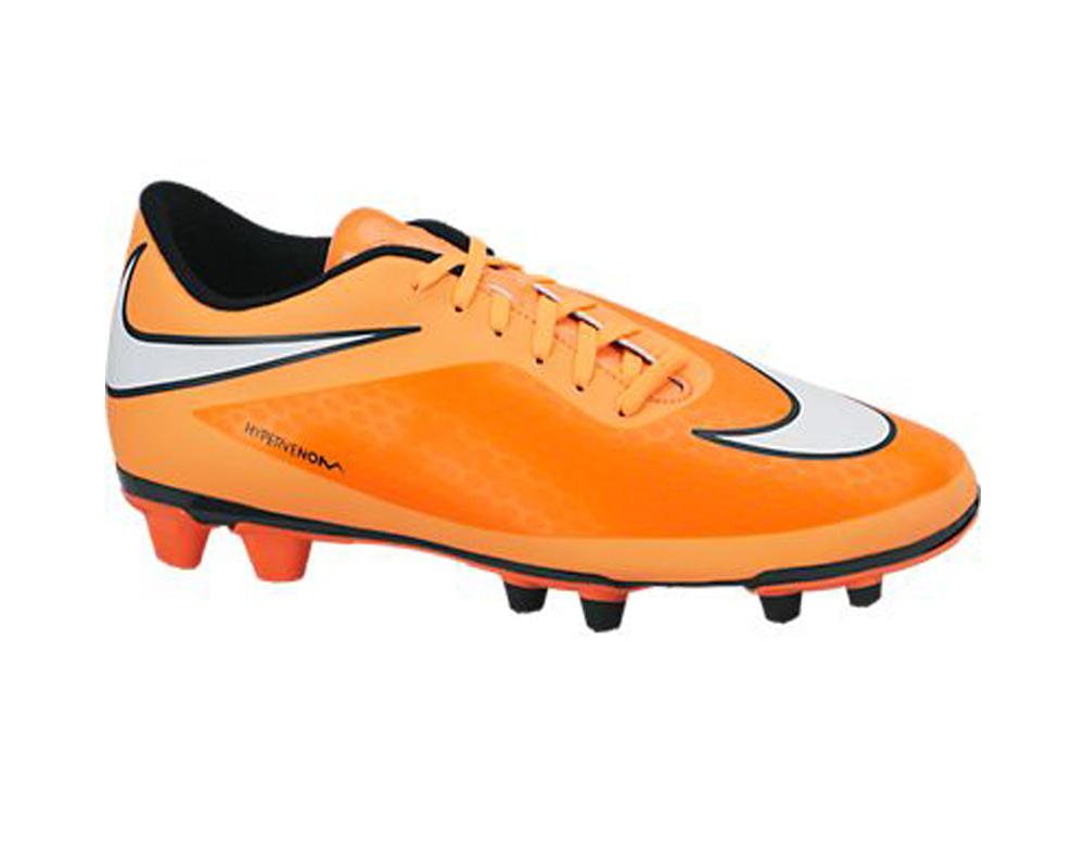 6d4c8edd4b76 Nike Men s Hypervenom Phade FG Soccer Cleats Atomic Orange White - Shop now    Shoolu