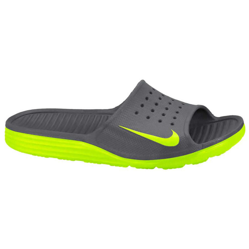 online store 076c3 09713 Nike Men s Solarsoft Slide Dark Grey Volt - Shop now   Shoolu.com