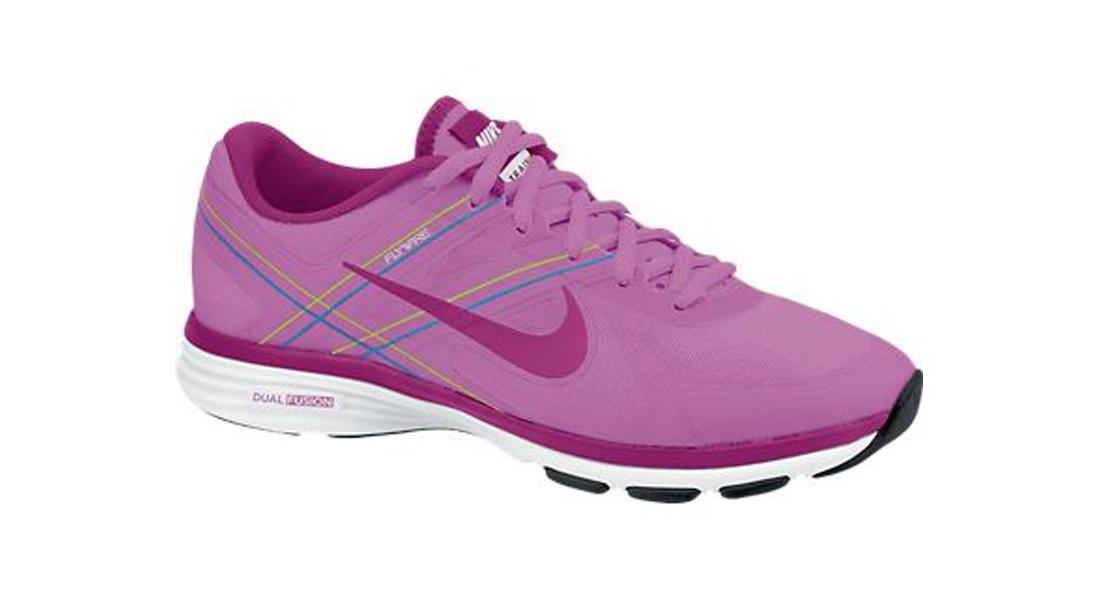 c92e2ee87c1a Nike Women s Dual Fusion TR 2 Cross Trainers - Red Violet Volt Vivid ...
