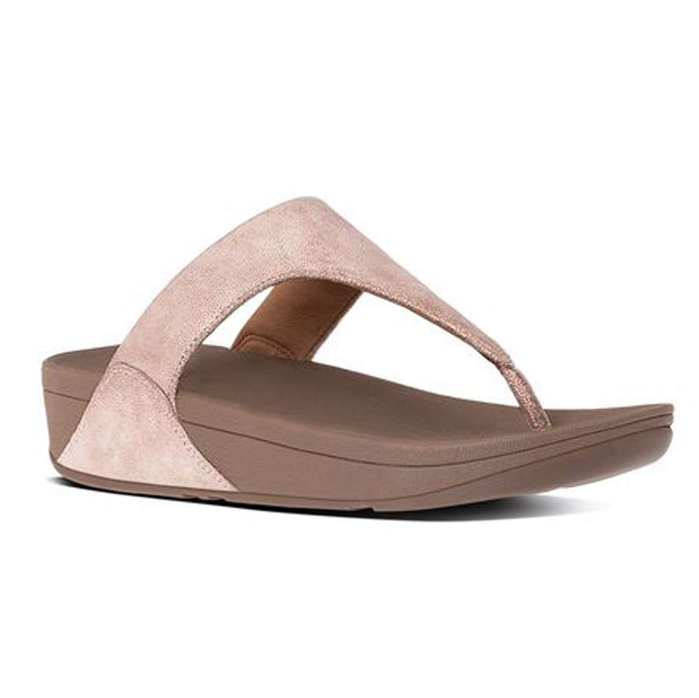 f4698bcecc0 Fitflop Women s Shimmy Suede Toe Post Thong Rose Gold - Shop now    Shoolu.com