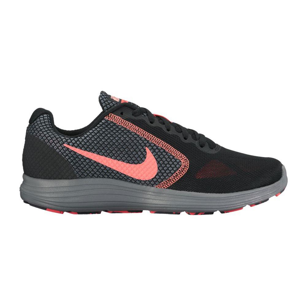 074ea19ca70 Nike Women s Revolution 3 Running Shoe Black Lava Glow - Shop now   Shoolu.