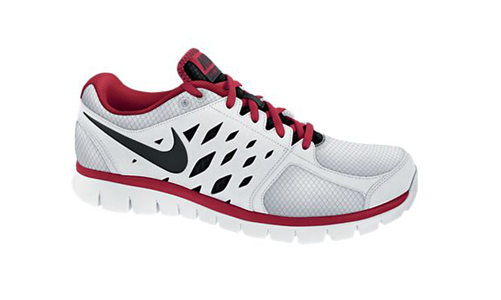 d0afef461057 Nike Flex 2013 Run White Red Black Mens Running Shoes - White Gym ...