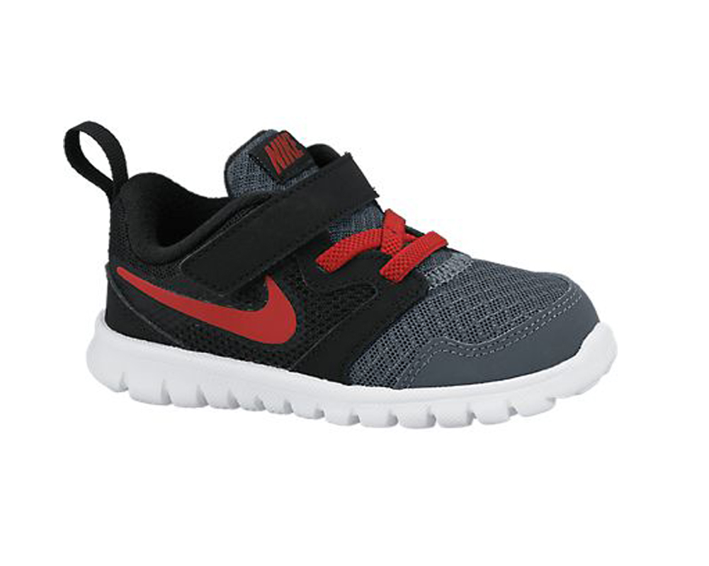946cec7cbbfd5 Nike Baby Boy s Flex Experience 3 Athletic Shoe Grey Black Red - Shop now