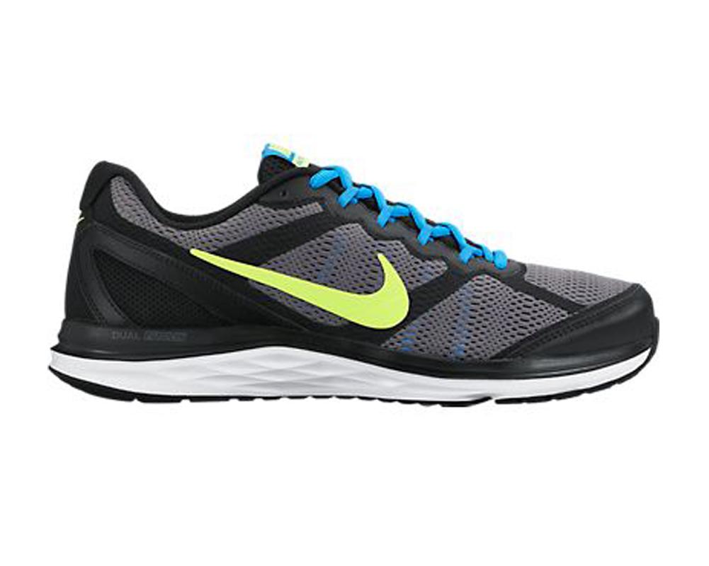80fff89d0e94 Nike Men s Dual Fusion Run 3 Running Shoes Black Blue Volt - Shop now