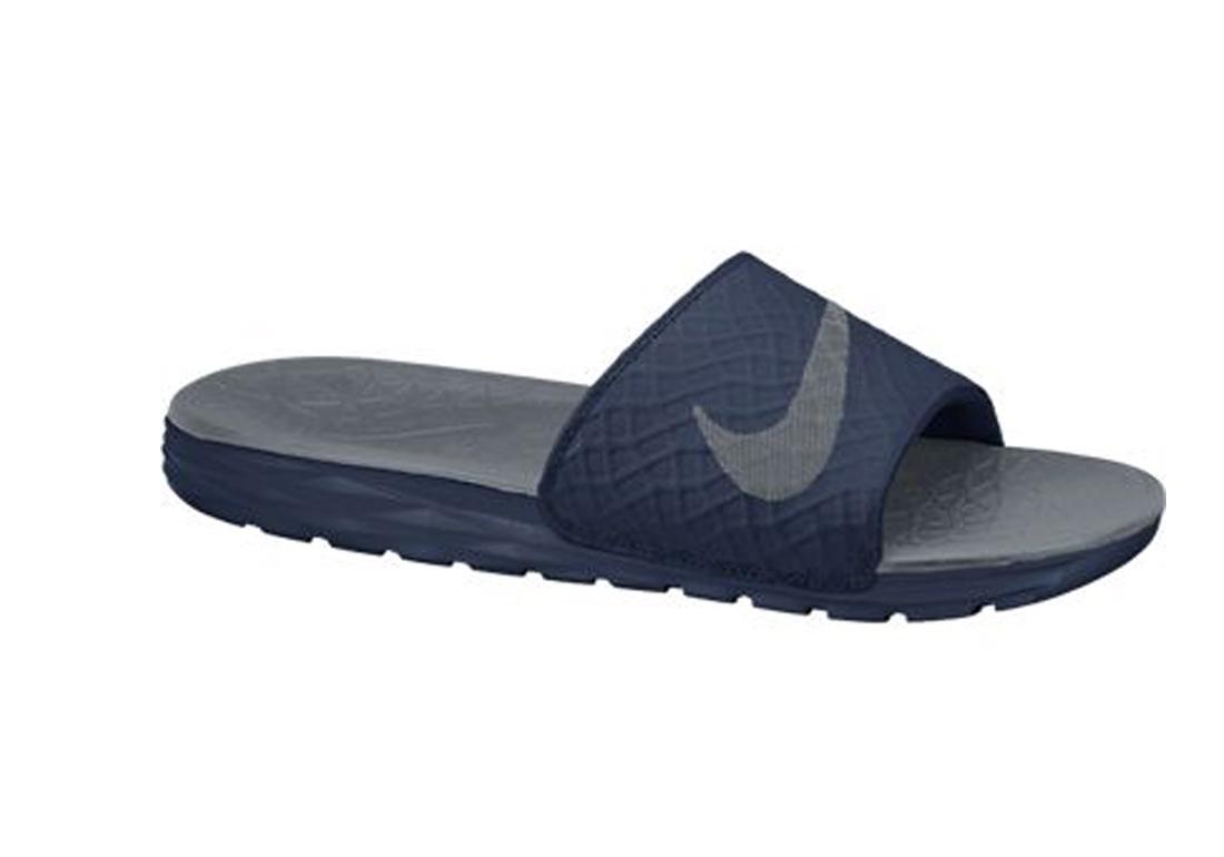 e2fc65a67e3f Nike Women s Benassi Solarsoft Slide 2 Sandal Midnight Navy Grey - Shop now    Shoolu