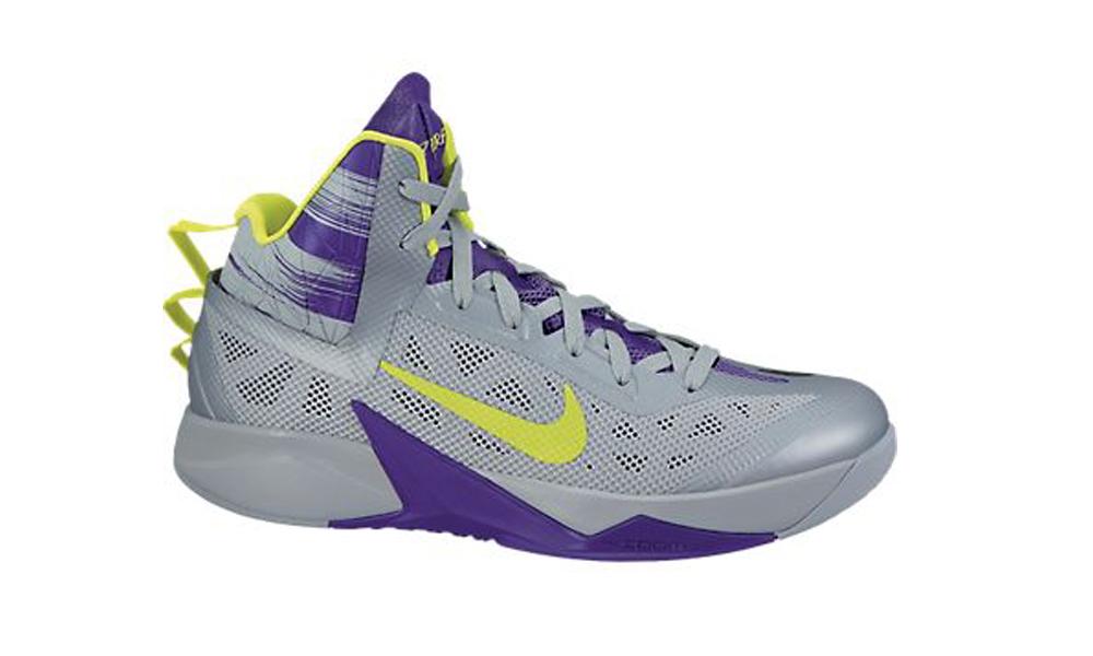 new arrival 03928 92eb6 Nike Zoom Hyperfuse 2013 Grey Purple Mens Basketball Shoes - Shop now    Shoolu.
