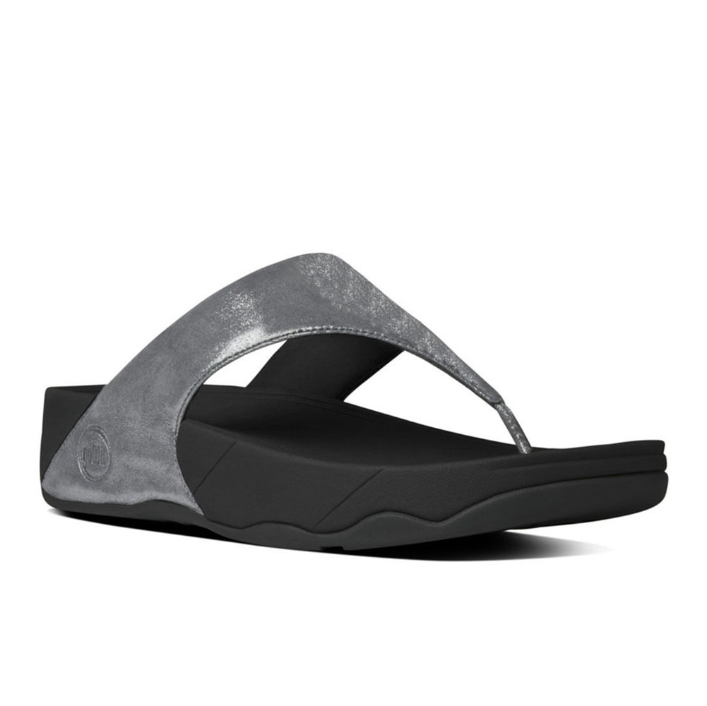 8c5bfe8bbc0be6 Fitflop Women s Lulu Shimmersuede Thong Pewter - Shop now   Shoolu.com