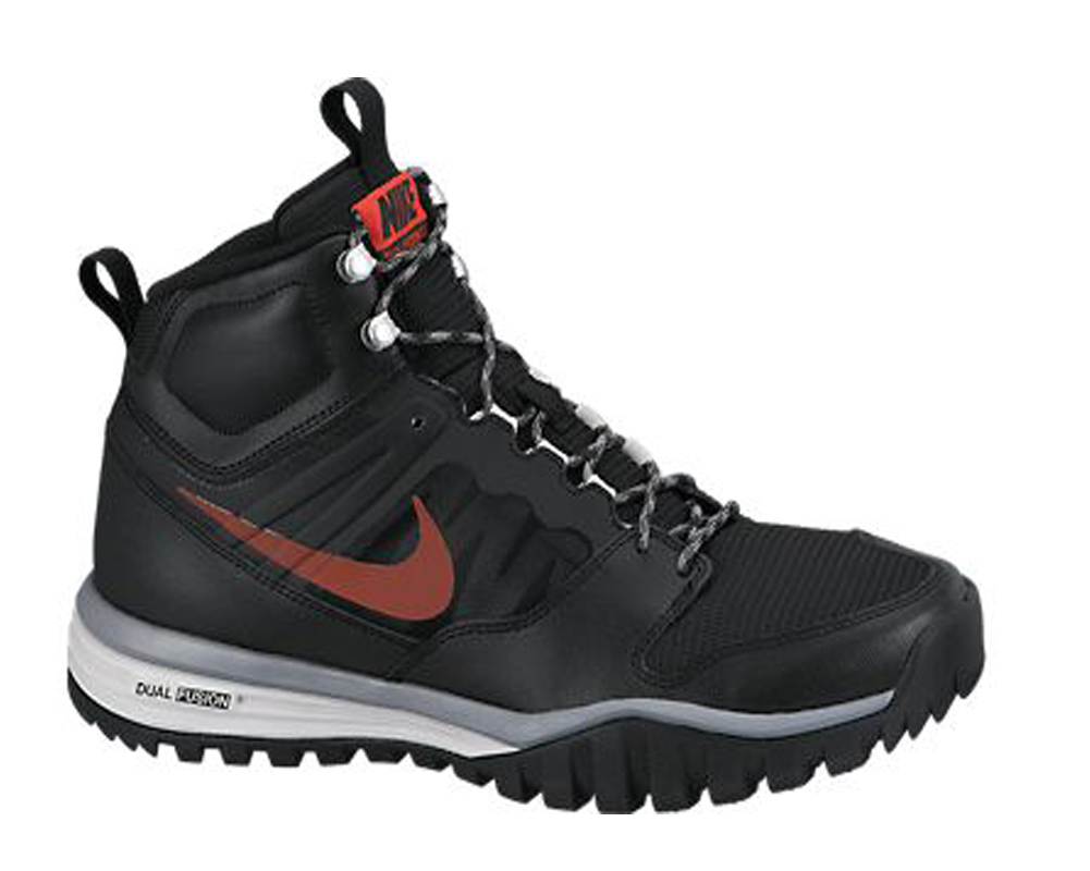 best service 5f256 b6352 Nike Men s Dual Fusion Hills Mid Boot Black Red - Shop now   Shoolu.