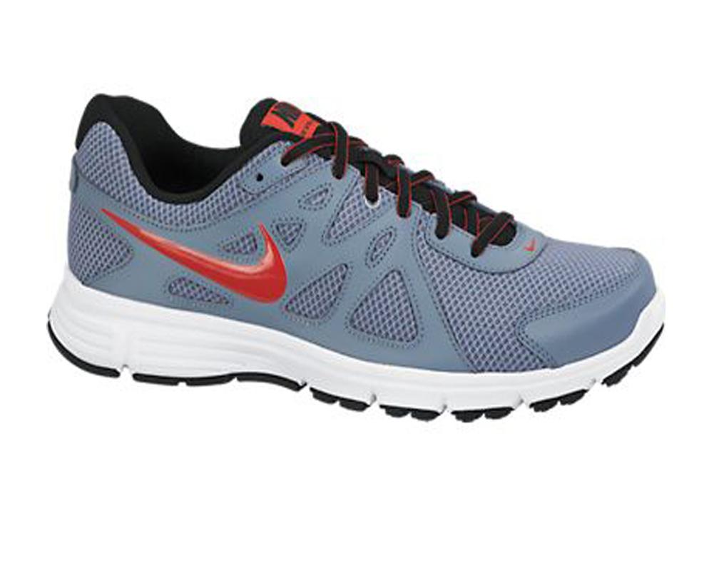 ef2bbdac4ca0 Nike Men s Revolution 2 Running Shoes Magnet Grey Red - Shop now   Shoolu.