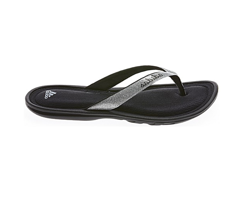b081cbf06d5 Adidas Women s Fitfoam Style Glitter Thong Sandal Black Grey - Shop now    Shoolu.
