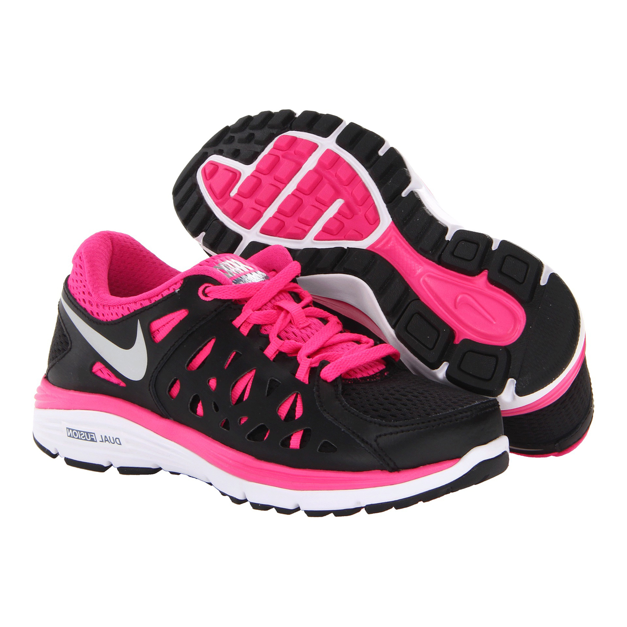 36bc44cff832ad Nike Dual Fusion Run 2 Black Pink Ladies Running Shoes - Shop now   Shoolu