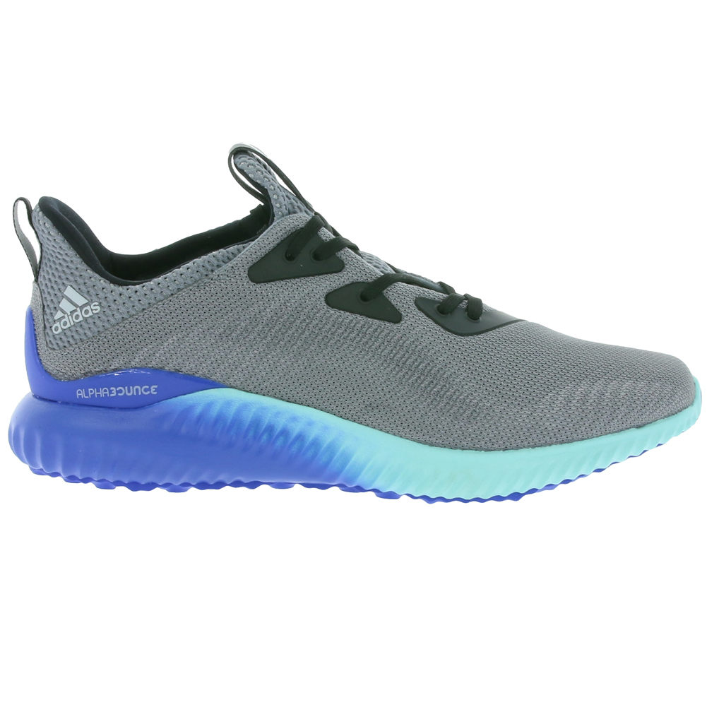 watch 6927b 80417 Adidas Mens Alphabounce 1 M Running Shoe GreyClear OnixClear Aqua - Shop