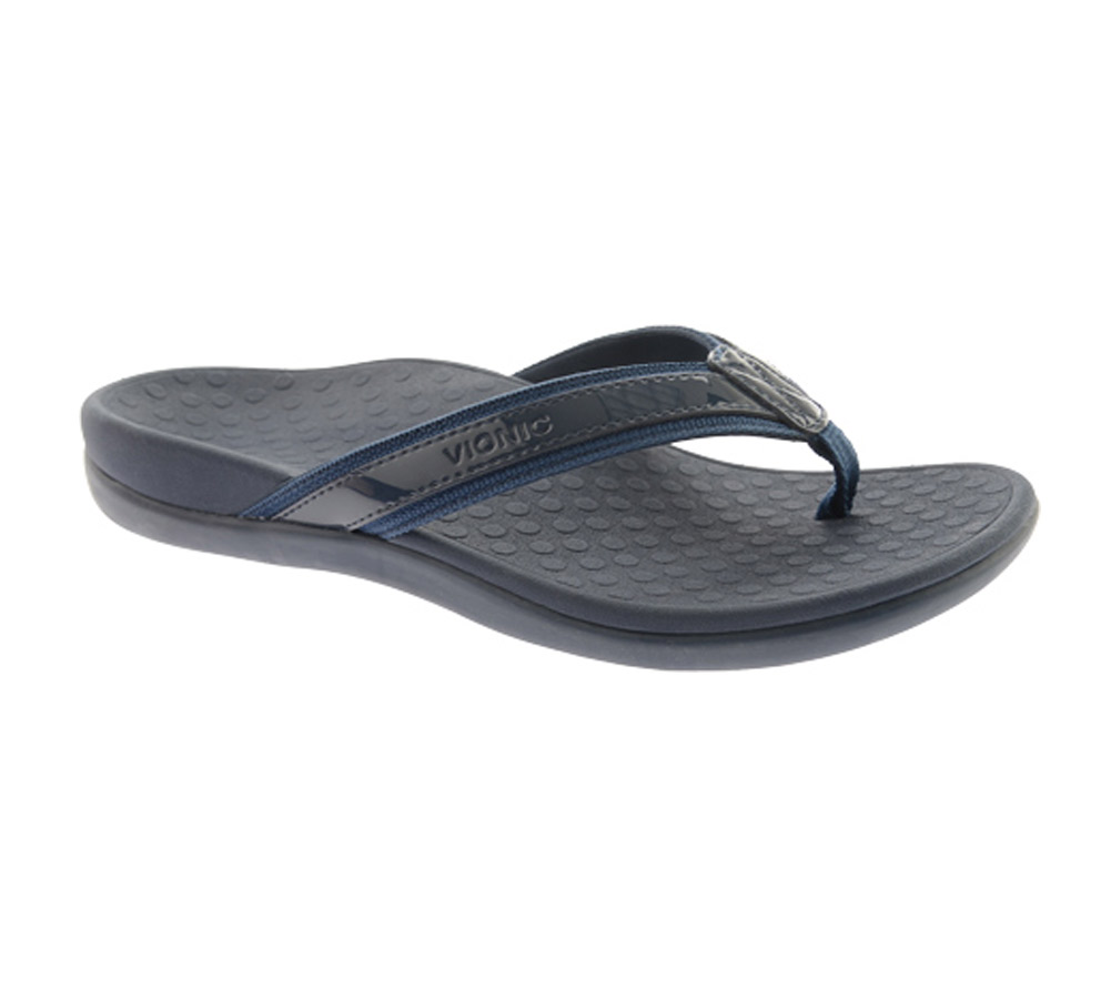 3d27cf5fd11e82 Vionic Women s Tide II Flip Flop Navy - Shop now   Shoolu.com