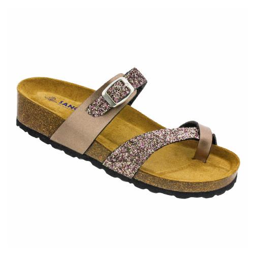 0456730273bd Sanosan Women s Reese Slide Sandal Copper Glitter