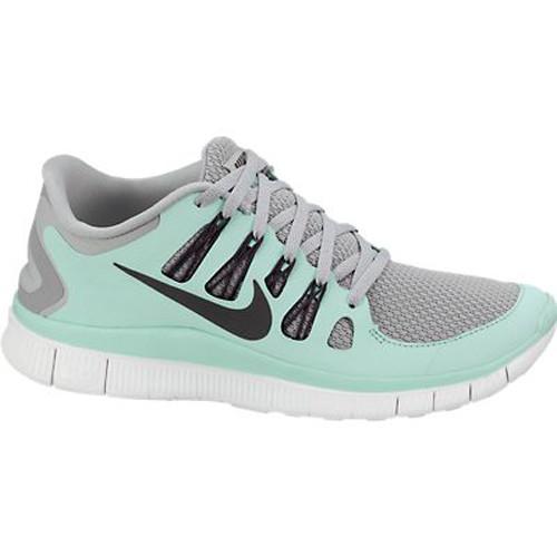 paras toimittaja tehdasmyymälät ostaa New Nike Free 5.0+ Silver/Green Ladies Running Shoes