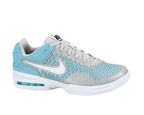 Nike Air Max Cage BluePlatinum Ladies Tennis Shoes