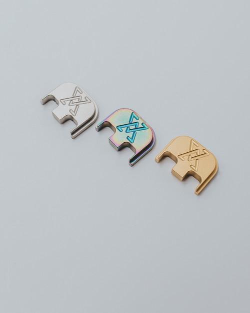 Glock Full Size Titanium Slide Backplates - 9mm/40/357 (Assorted Finishes)