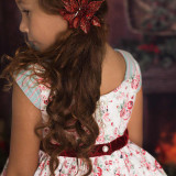 Heirloom Christmas Noel Set: Dress + Pantaloons in Red Floral