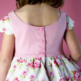 Heirloom Easter Attwell Set: Dress + Ruffled Bo Peep Shorts in Pink Roses