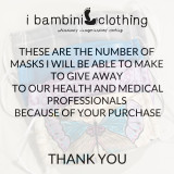 B1D1 Cotton Cloth Face Masks  (not for purchase)