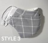 Cotton Cloth Face Masks Style 3 + Elastic (Max Limit 25)