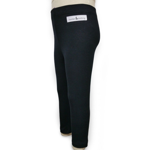 black straight plain leggings