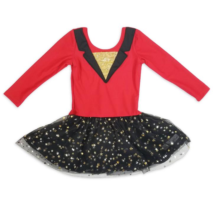 Custom Leotard: Circus Ring Master - 3/4 Sleeve + Tulle Skirt