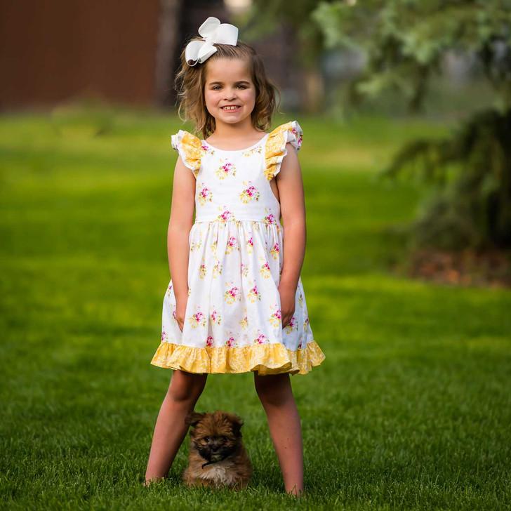 Charlett Dress in Hanky Rose (Vintage Length) + OPTIONAL Bloomers