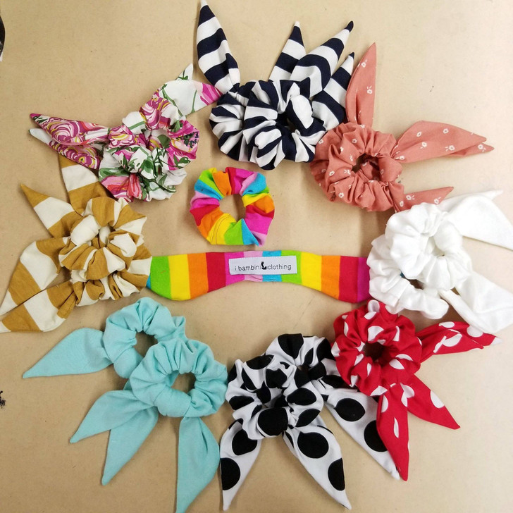 Piggy Scrunchies Set w/ removable tail