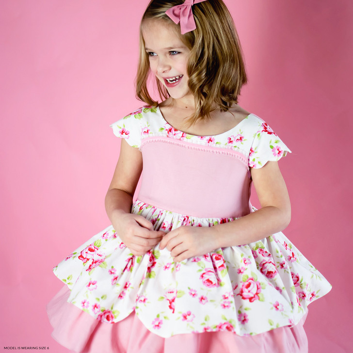 Heirloom Easter Attwell Set: Dress + Ruffled Bo Peep Shorts in Pink Roses