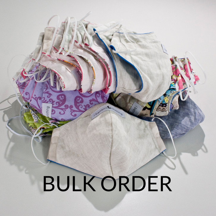 Bulk Cotton Cloth Face Masks Mixed Styles - $12/mask, 50 masks minimum