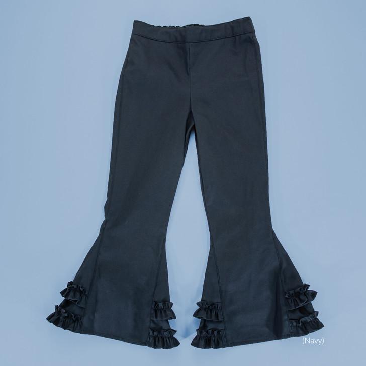 Uniform - Pants - Ruffled Bells - Adjustable Waist in Navy