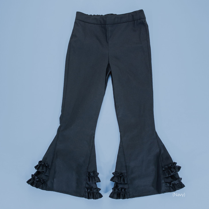 Uniform - Pants - Ruffled Bells - Adjustable Waist in Navy
