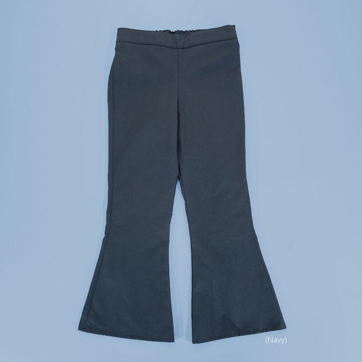Uniform - Pants - Flared - Adjustable Waist in Navy