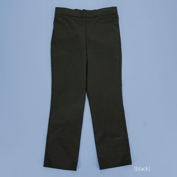 Uniform - Jane Pants - Straight - Adjustable Waist in Black